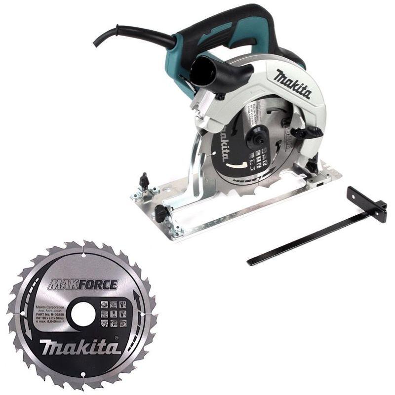 Makita HS 7611 1600 W Scie circulaire 190 mm + 1x Lame de scie carbure + 1x