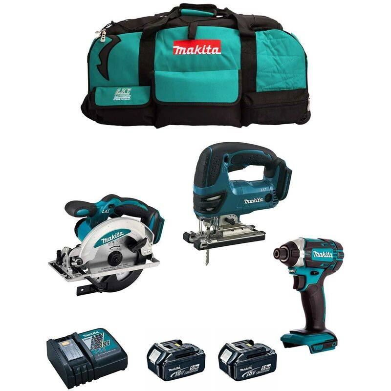 MAKITA Kit 18V MSB3P2B (DJV180 DSS610 DTD152 2 x 5,0 Ah DC18RC Trolley)