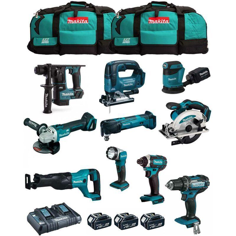 MAKITA Kit MK1001 (DDF482+ DHR171+ DGA504+ DTD152+ DJV182+ DSS610+ DJR186+