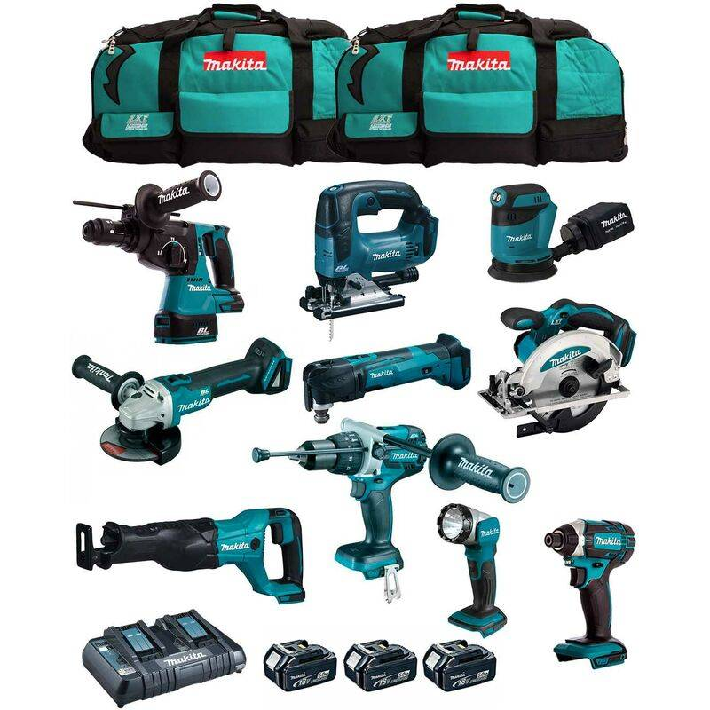 MAKITA Kit MK1002 (DHP481+ DHR243+ DGA504+ DTD152+ DJV182+ DSS610+ DJR186+