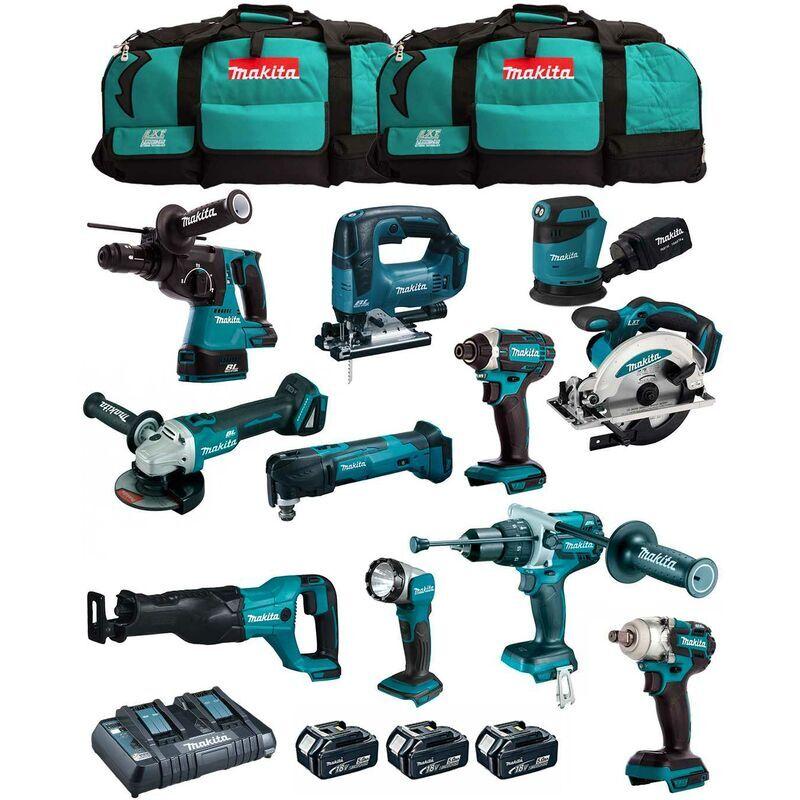 MAKITA Kit MK1102 (DHP481+DHR243+ DGA504+ DTD152+ DJV182+ DSS610+ DJR186+