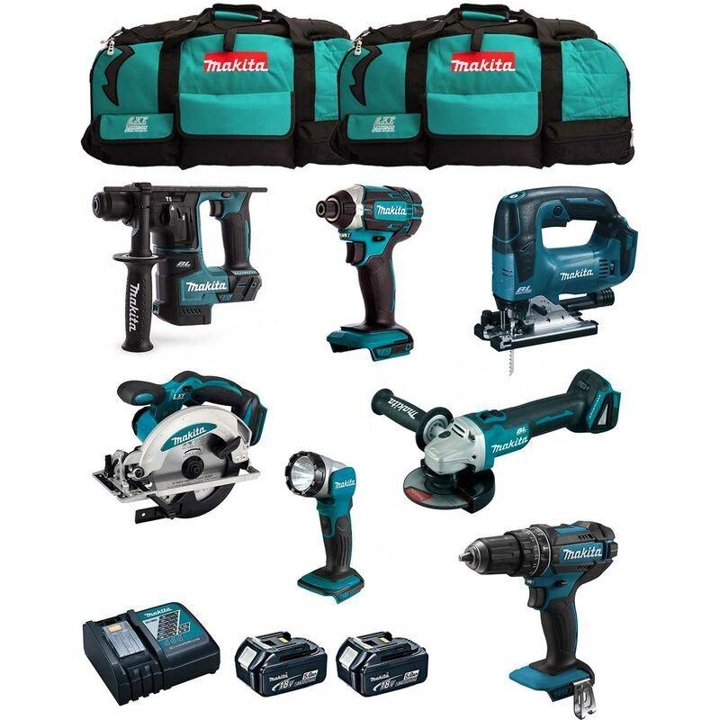 MAKITA Kit MK701 (DDF482 DHR171 DGA504 DTD152 DJV182 DSS610 DML802 2 x 5,0 Ah