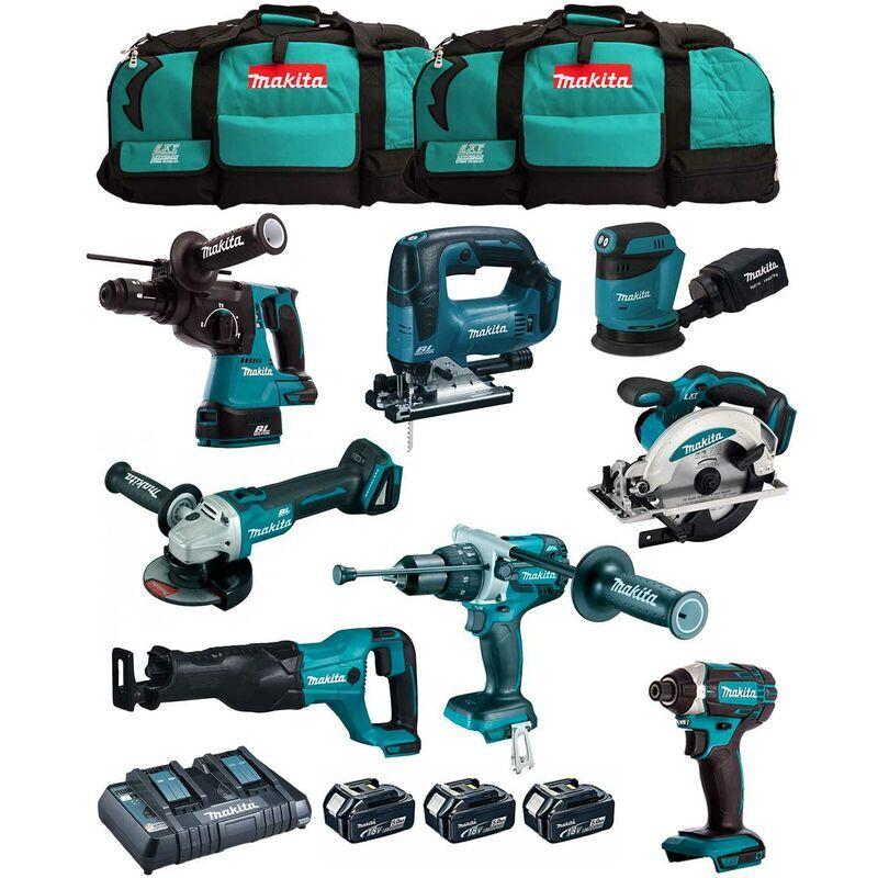 MAKITA Kit MK802 (DHP481 DHR243 DGA504 DTD152 DJV182 DSS610 DJR186 DBO180 3 x