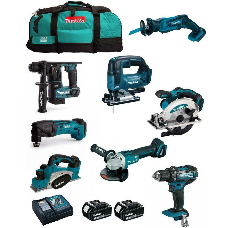 MAKITA Kit MPK18823A (DDF482 DHR171 DGA504 DTM50 DSS610 DJV182 DJR185 DKP180 2