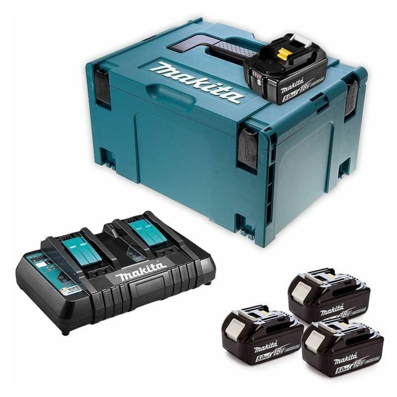 Makita - Pack Énergie 18V Li-Ion (4x5,0 Ah) avec chargeur double dans MAK-PAC