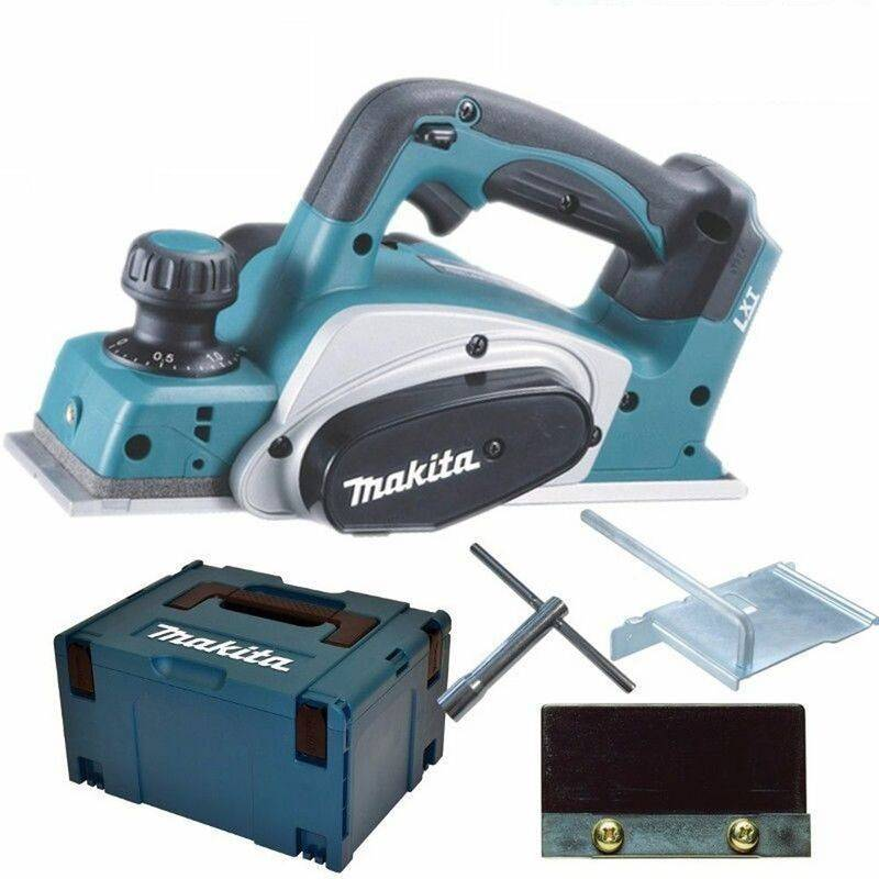 Makita DKP180Y1J Rabot à batteries 18V Li-Ion machine seule + (1x batterie