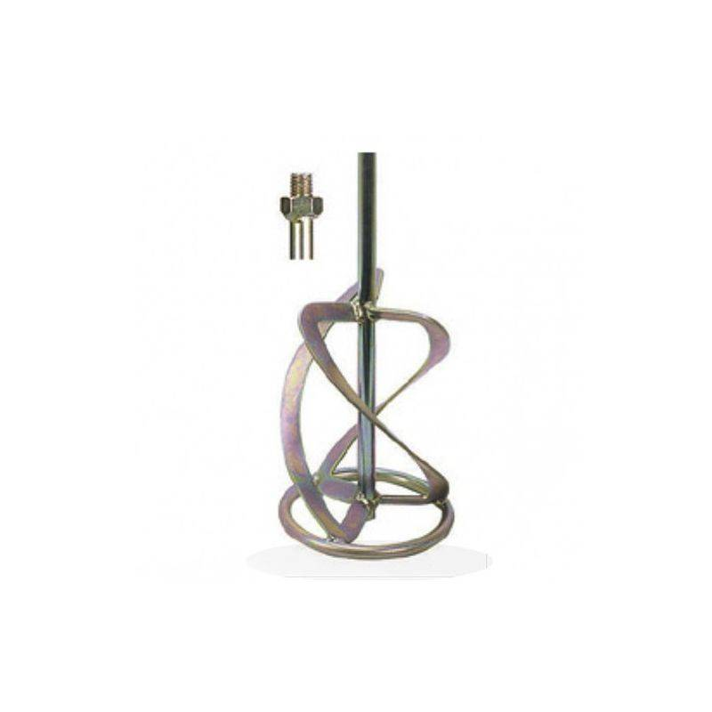 LEMAN Malaxeur pour matériaux lourds D. 140 mm L. 590 mm filetage M14 - ABR142