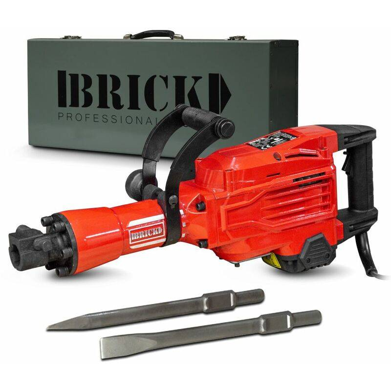 BRICK Marteau piqueur 1700W-60 joules avec coffret métal