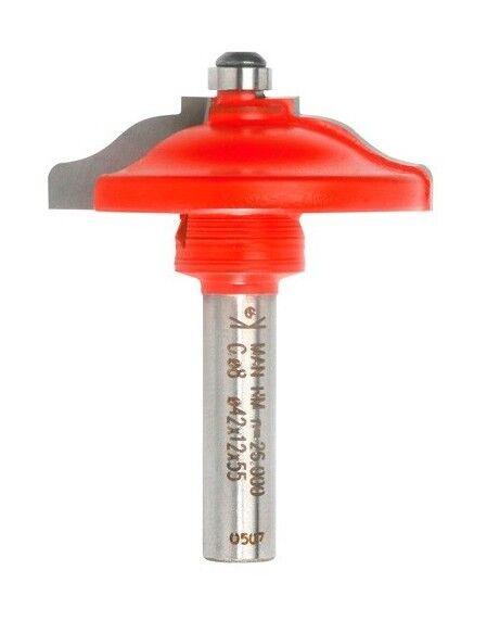 SIDAMO Mèche plate-bande à doucine Q. 8 x D. 42 x Lt. 55 mm + Guide à billes - 620025