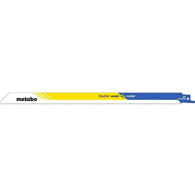 Metabo 25 lames de scies sabres, B+M, flexible, 300 x 0,9 mm - 62824800