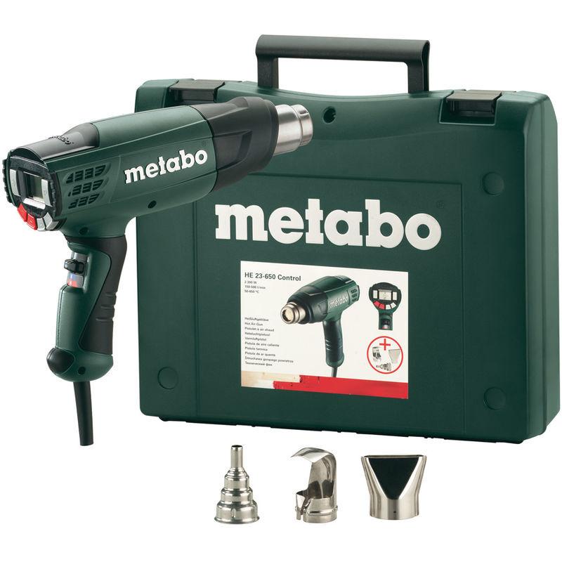 Metabo HE 23-650 - Décapeur thermique avec accessoires dans mallette - 2300W