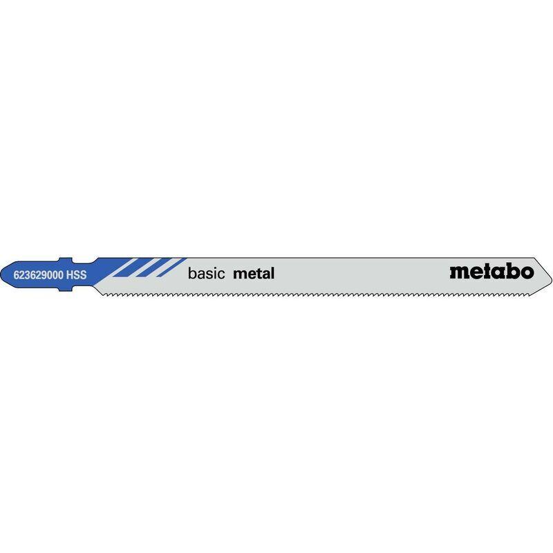 Metabo 25 lames de scies sauteuses, métal, classic, 106/ 1,2mm