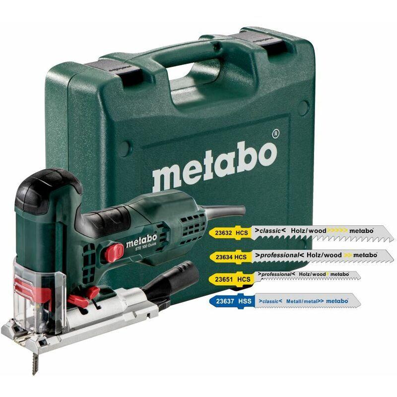 Metabo Scie sauteuse STE 100 Quick Ensemble avec coffret et lames de scie