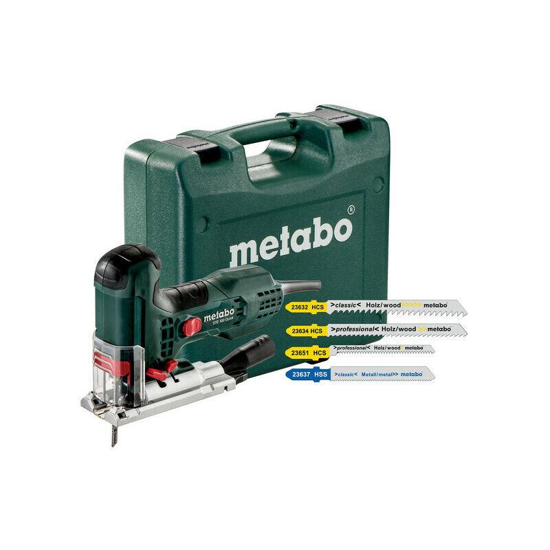 METABO STE 100 QUICK SET - Scie sauteuse avec 20 lames dans coffret - 710W - Poignée