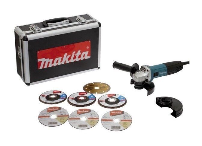 MAKITA Meuleuse MAKITA Ø125 mm 720W + 7 Disques, coffret - GA5030RSP6