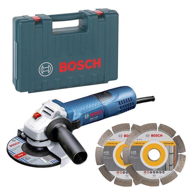 Bosch Pro - Meuleuse angulaire 720W Ø125 mm avec 2 disques dans coffret - BOSCH