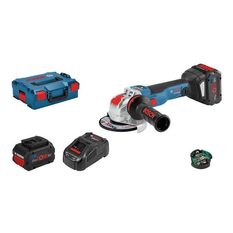 BOSCH Meuleuse BOSCH X-Lock GWX 18V-10 SC - 18V 8.0 Ah, chargeur, coffret - 06017B0401