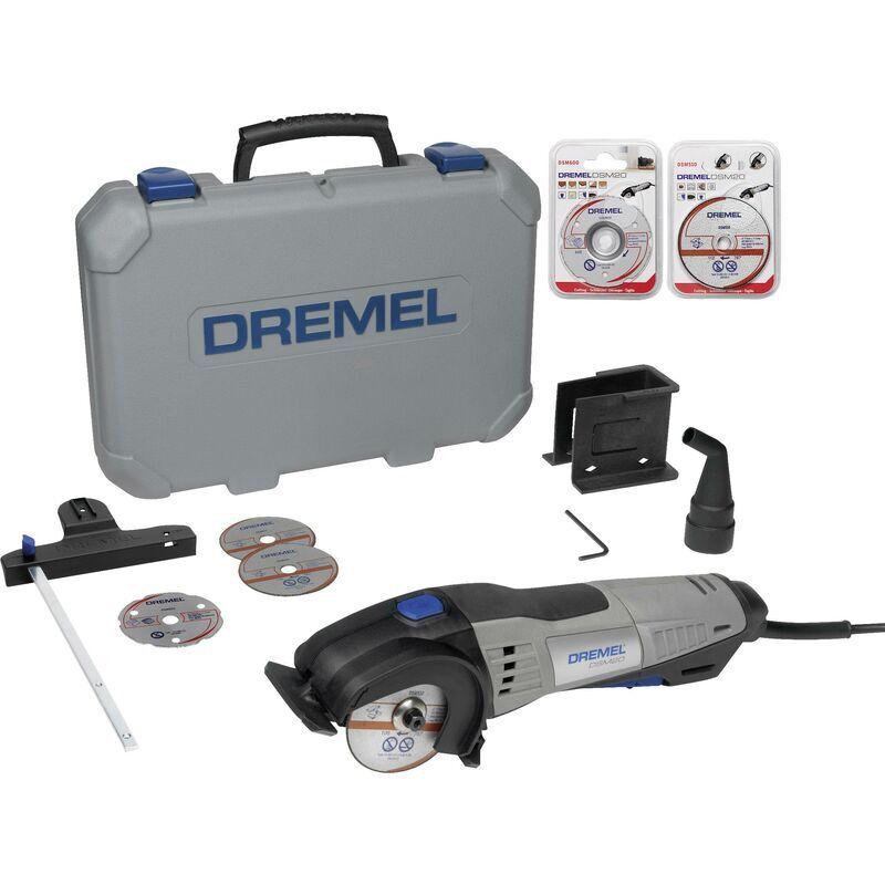 DREMEL Mini scie circulaire + accessoires, + mallette 13 pièces Dremel DSM20/3-8