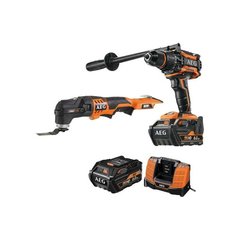 A.e.g - Pack AEG Perceuse percussion Brushless 18V BSB18BL-602C - Outil
