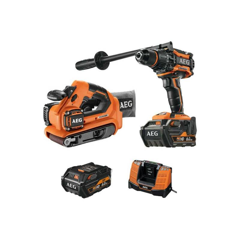 A.e.g - Pack AEG Perceuse percussion Brushless 18V BSB18BL-602C - Ponceuse à