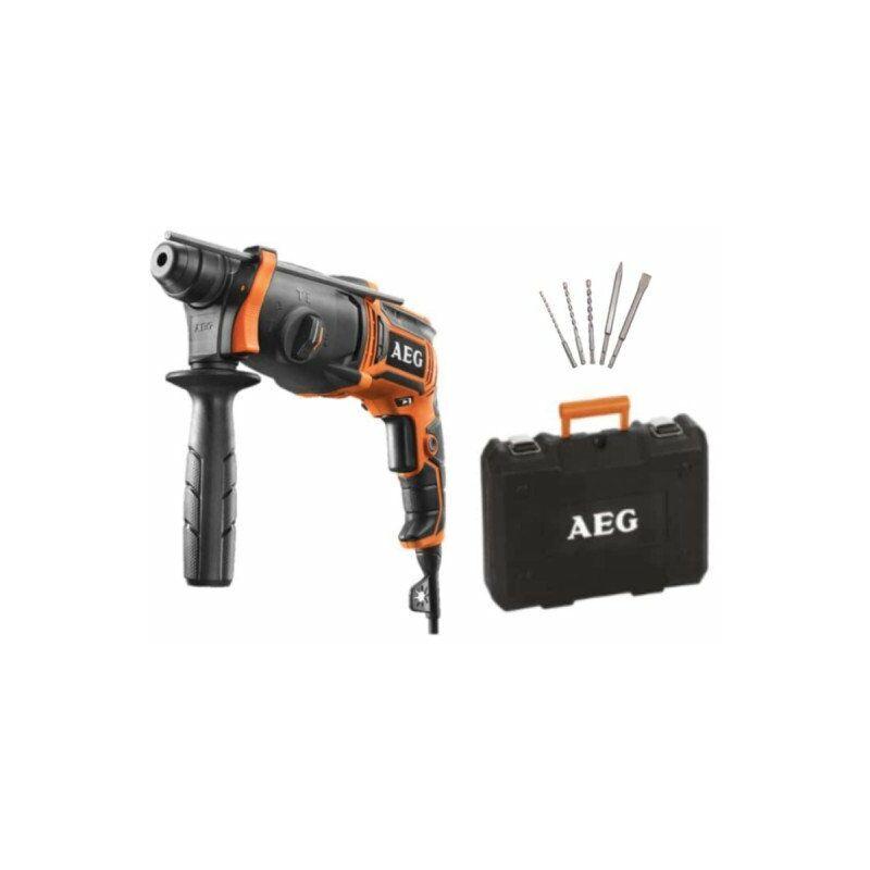 AEG Pack Perforateur SDSPLUS 24mm - 800W - KH 24 IE KIT - Set trois forets et deux