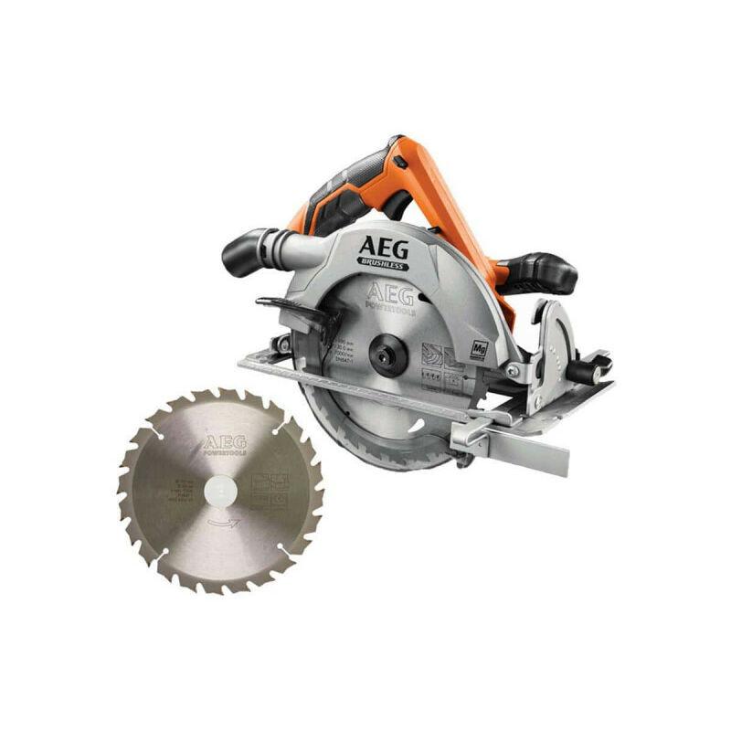 A.e.g - Pack AEG scie circulaire brushless 18 V 190mm Li-ion BKS18BL-0 - lame