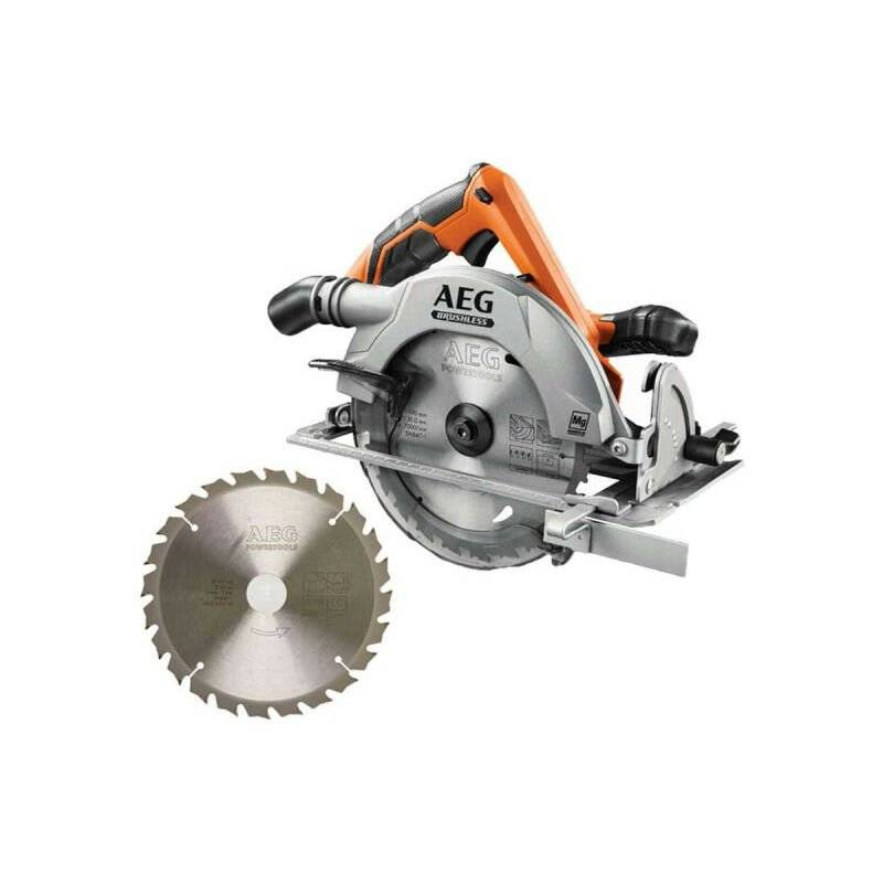 AEG Pack scie circulaire brushless 18 V 190mm Li-ion BKS18BL-0 - lame scie