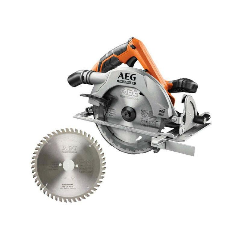 AEG Pack AEG scie circulaire brushless 18 V 190mm Li-ion BKS18BL-0 - Lame scie