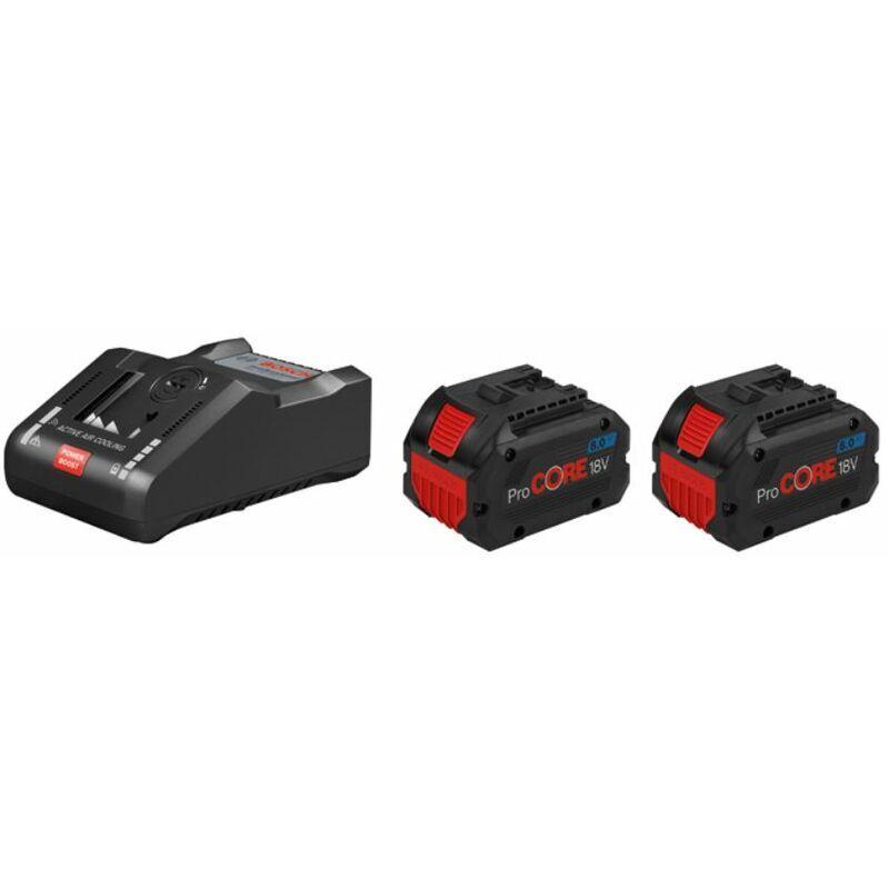 Bosch Set de base 2 batteries ProCORE18V 8.0Ah + GAL 18V-160 C + GCY 42