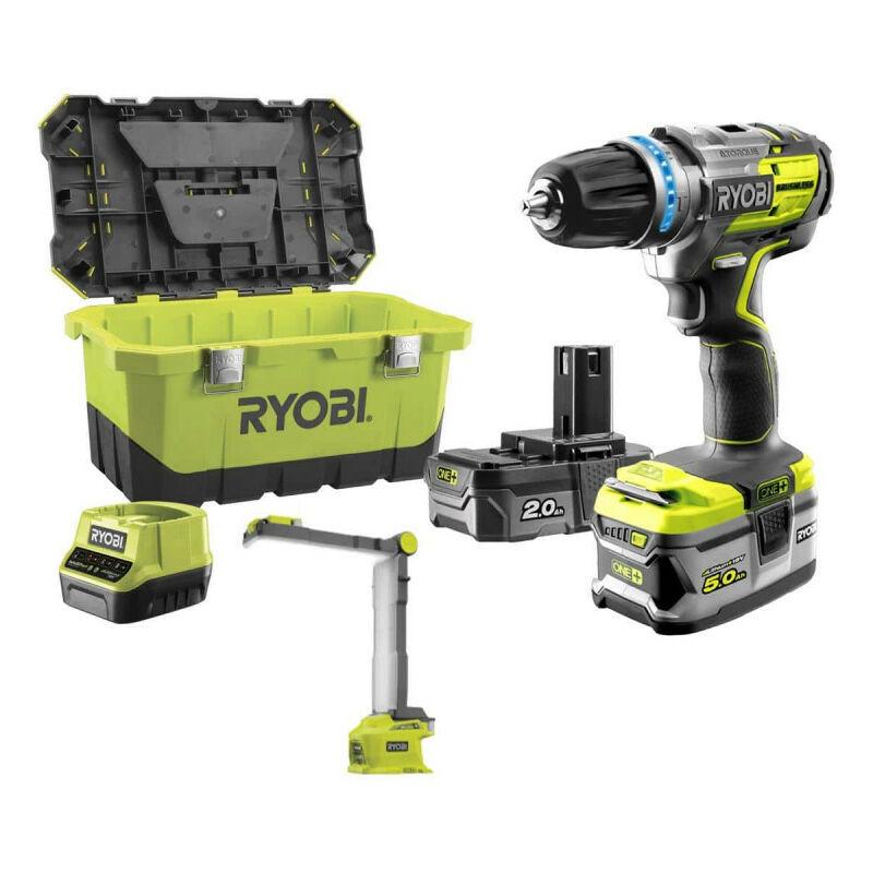 RYOBI Pack brushless perceuse-visseuse à percussion RYOBI 18 V OnePlus R18PDBL