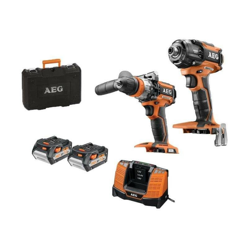 AEG Pack brushless Visseuse à chocs oléopneumatique AEG 18V sans batterie ni