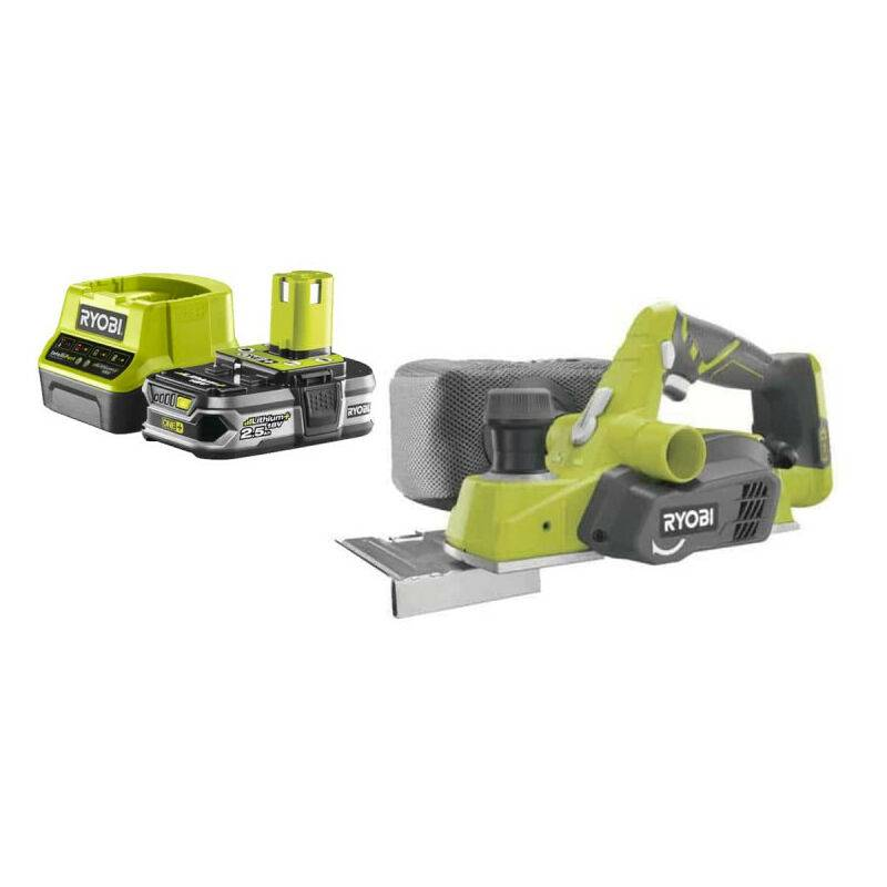 RYOBI Pack RYOBI Rabot18V 82mm OnePlus R18PL-0 - 1 Batterie 2.5Ah - 1 Chargeur rapide
