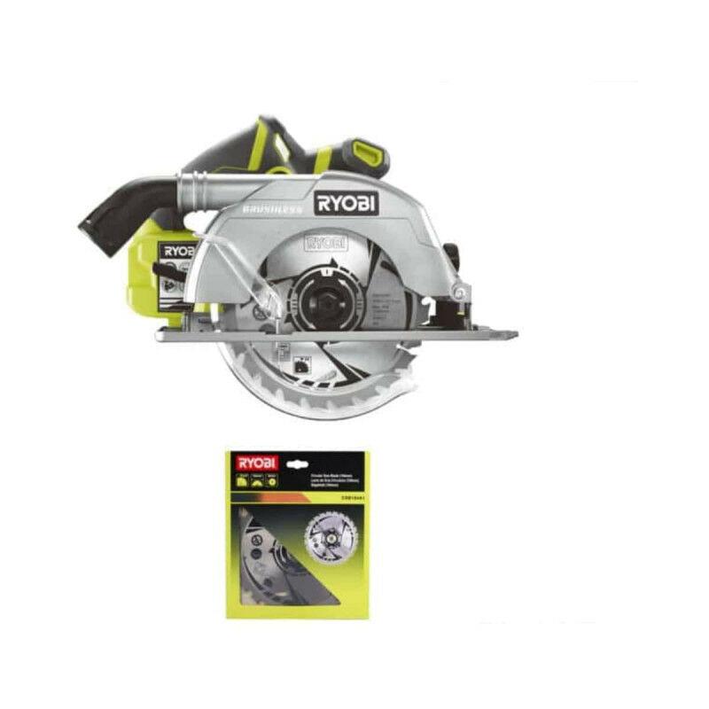 RYOBI Pack RYOBI Scie circulaire Brushless 18V OnePlus 60mm R18CS7-0 - lame carbure