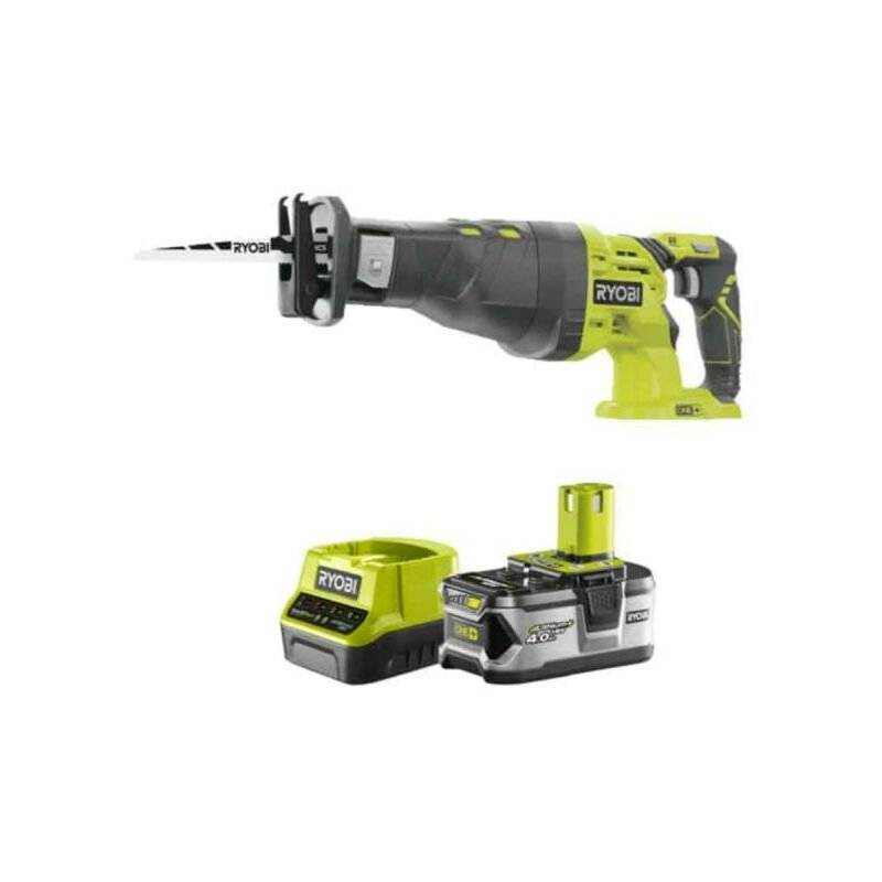 RYOBI Pack RYOBI Scie sabre 18V OnePlus R18RS-0 - 1 batterie 4.0Ah - 1 chargeur