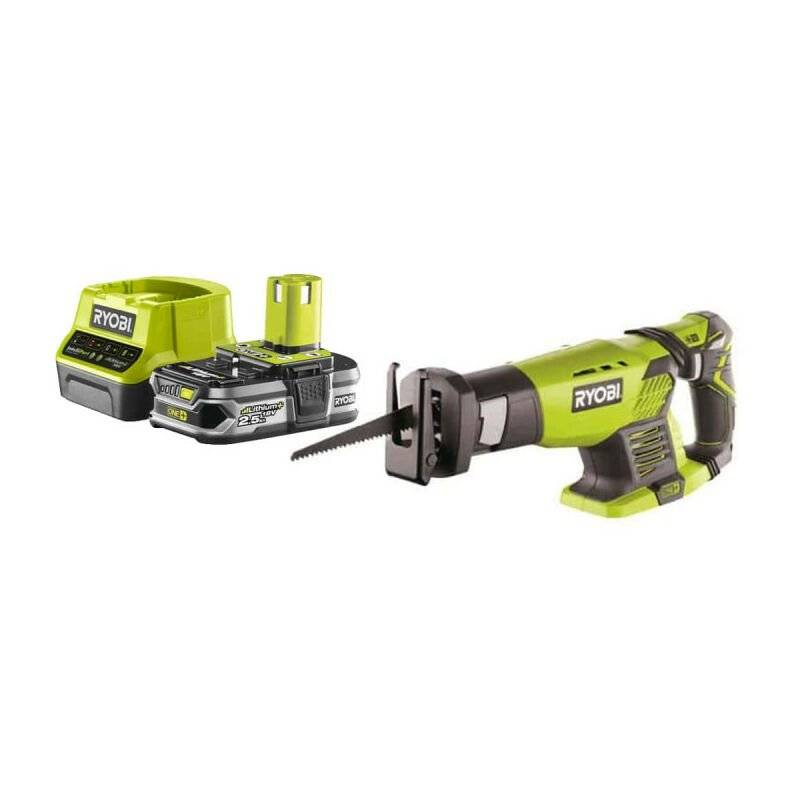 RYOBI Pack RYOBI Scie sabre18V OnePlus RRS1801M - 1 Batterie 2.5Ah - 1 Chargeur