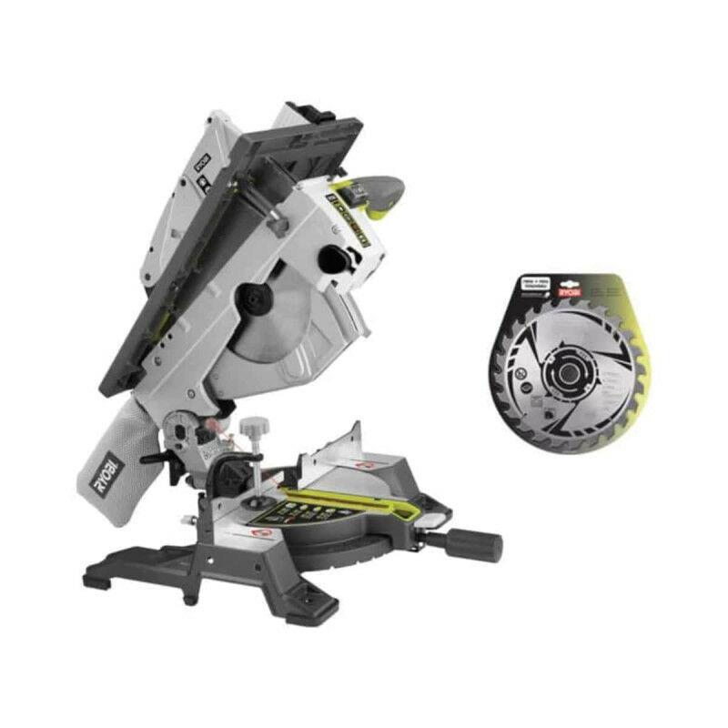 RYOBI Pack RYOBI scie sur table et onglet électrique 1800W 254mm RTMS1800-G - lame