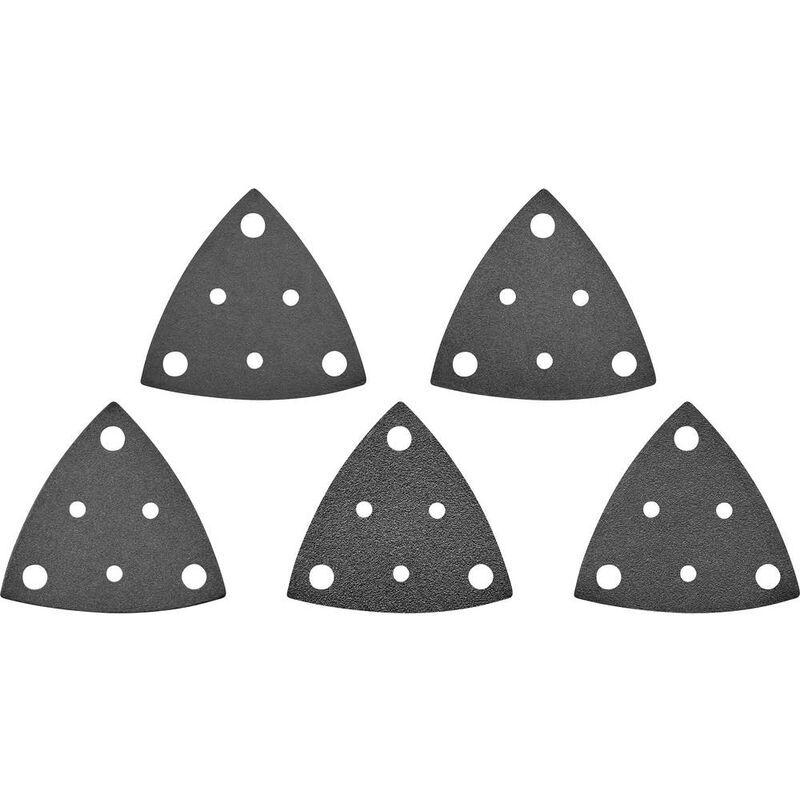 TOOLCRAFT Papier abrasif pour ponceuse vibrante TO-5045829 perforé Grain 60, 80, 120,