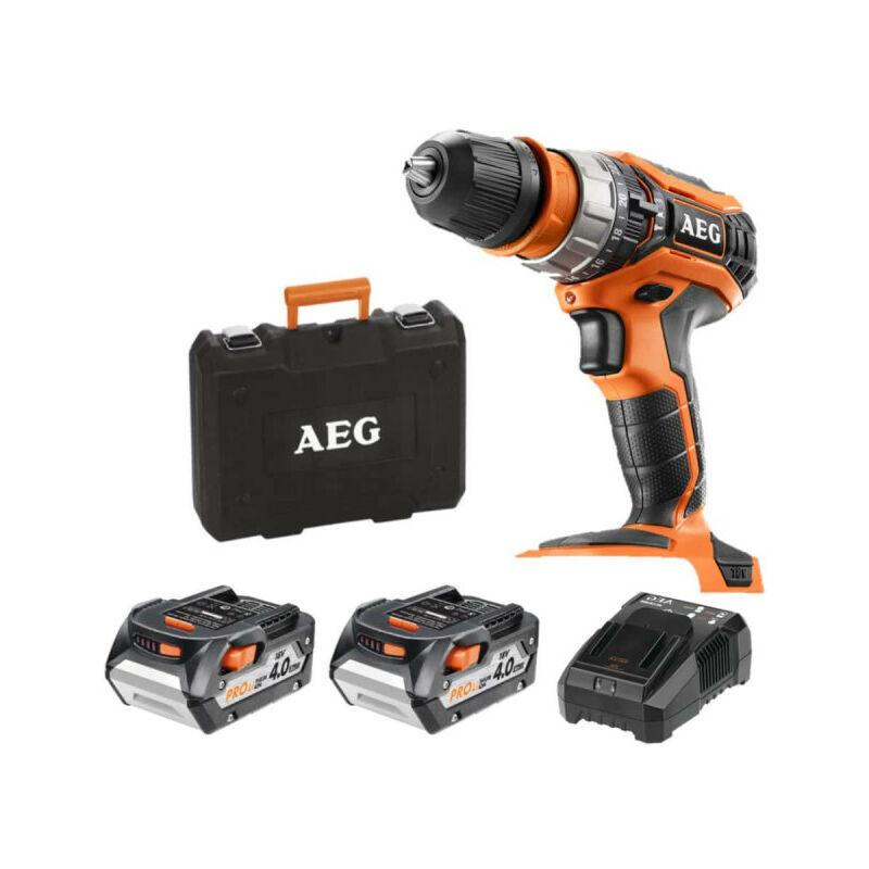 AEG Perceuse à percussion AEG 18V - 2 batteries 4.0Ah - 1 chargeur BSB18C2XLI-402CA
