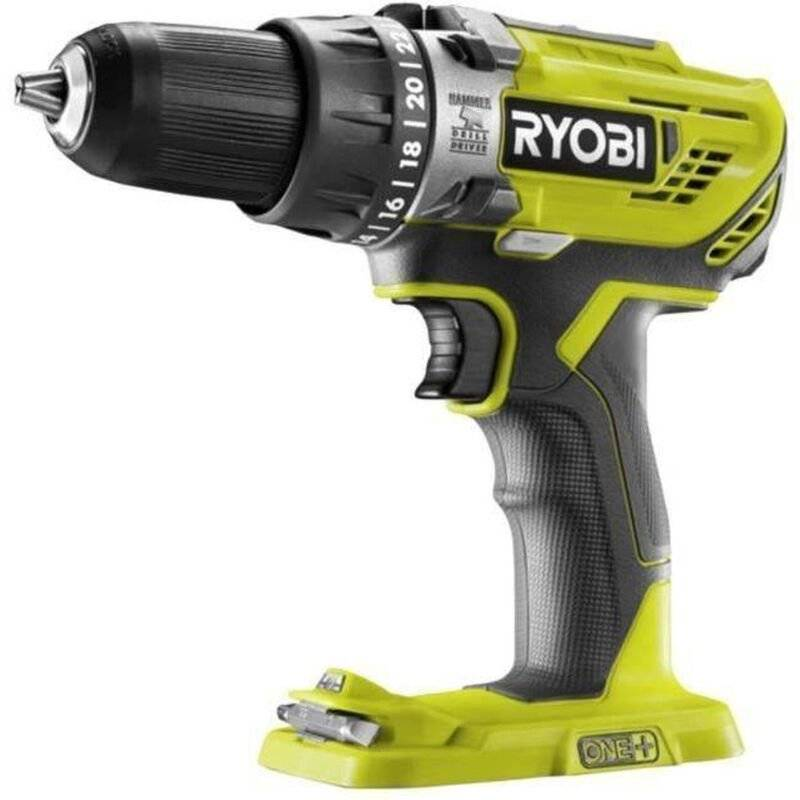 Visseuse perceuse percussion RYOBI 18V li-ion ONE+ R18PD3 sans batterie