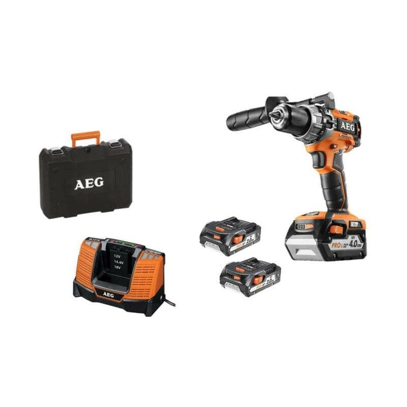 A.E.G Perceuse compacte brushless AEG 18 V - 3 batteries - chargeur BSB18C2BLLI-X03C