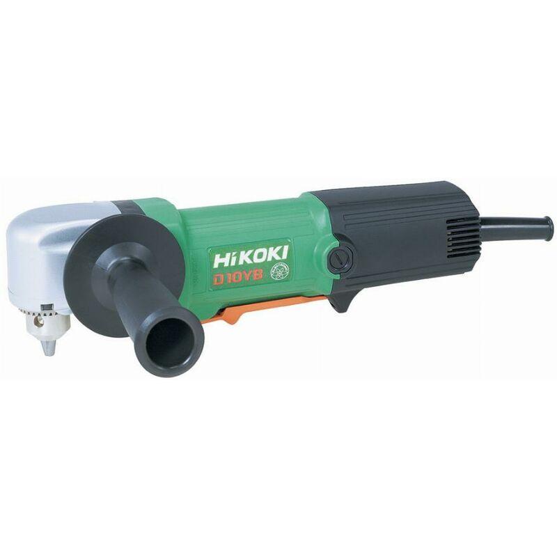 Hikoki - Perceuse d'angle 500W acier 10mm révers. mandrin à clé 10 - D10YBL3Z
