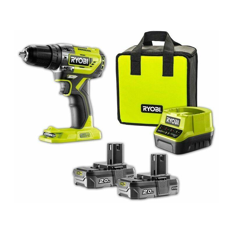 Ryobi Perceuse-visseuse à percussion Brushless e-torque 18V ONE+, Batteries