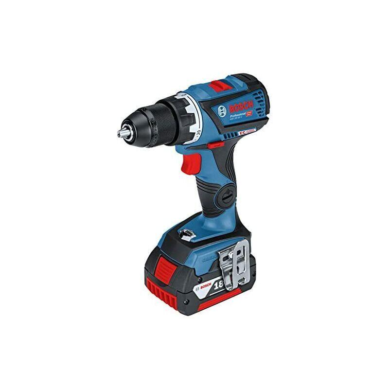 Bosch GSR Perceuse 18V-60 C Bleu - Perceuse électrique (1,3 cm, 3,8 cm, 60 Nm,