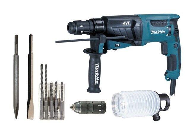 MAKITA Perforateur burineur MAKITA SDS Plus - 800W 26mm - Coffret aluminium + Kit