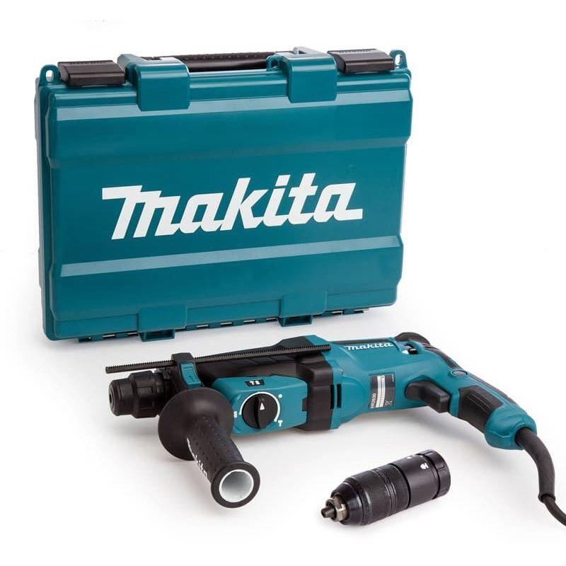 MAKITA Perforateur burineur SDS-Plus 800W dans coffret plastique - MAKITA HR2630T