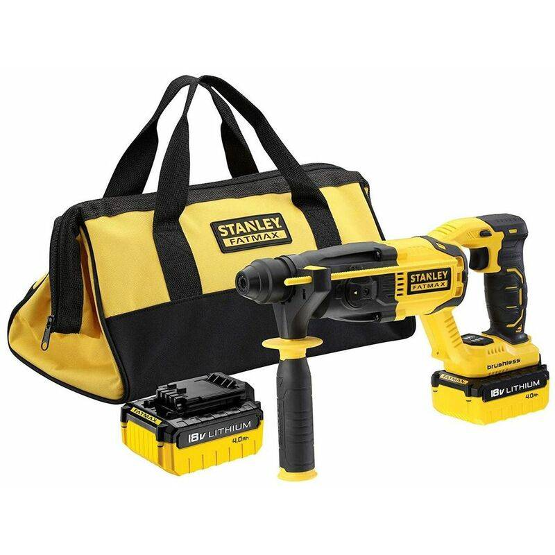 STANLEY Perforateur Burineur Stanley Fatmax Sans Fil 2 Batteries Lithium-Ion 18V 4 Ah