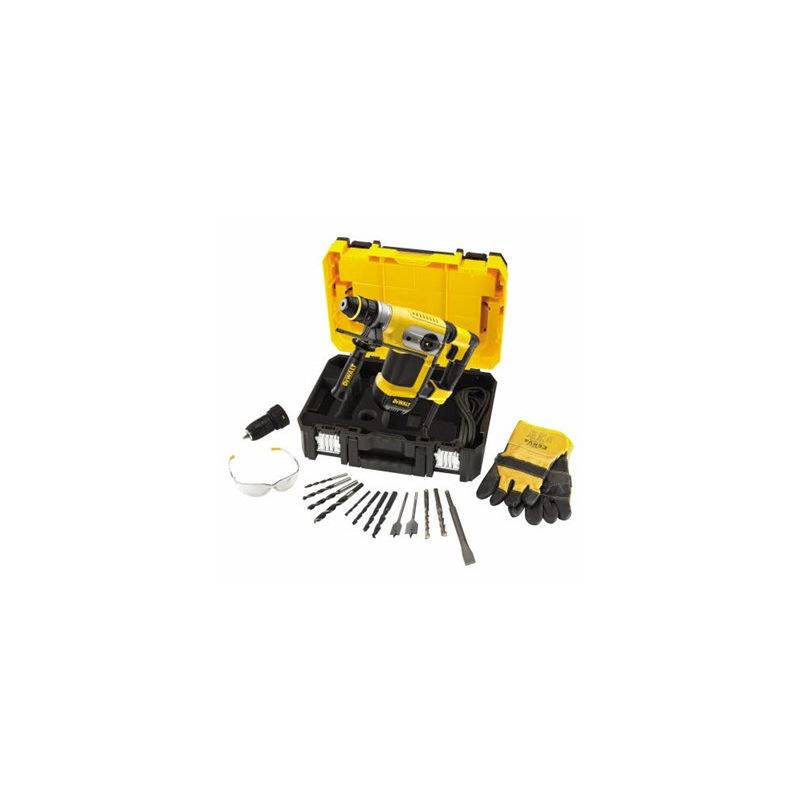 DEWALT Perforateur SDS-Plus filaire 4.2J 32mm DEWALT - avec accessoires - D25417KT-QS