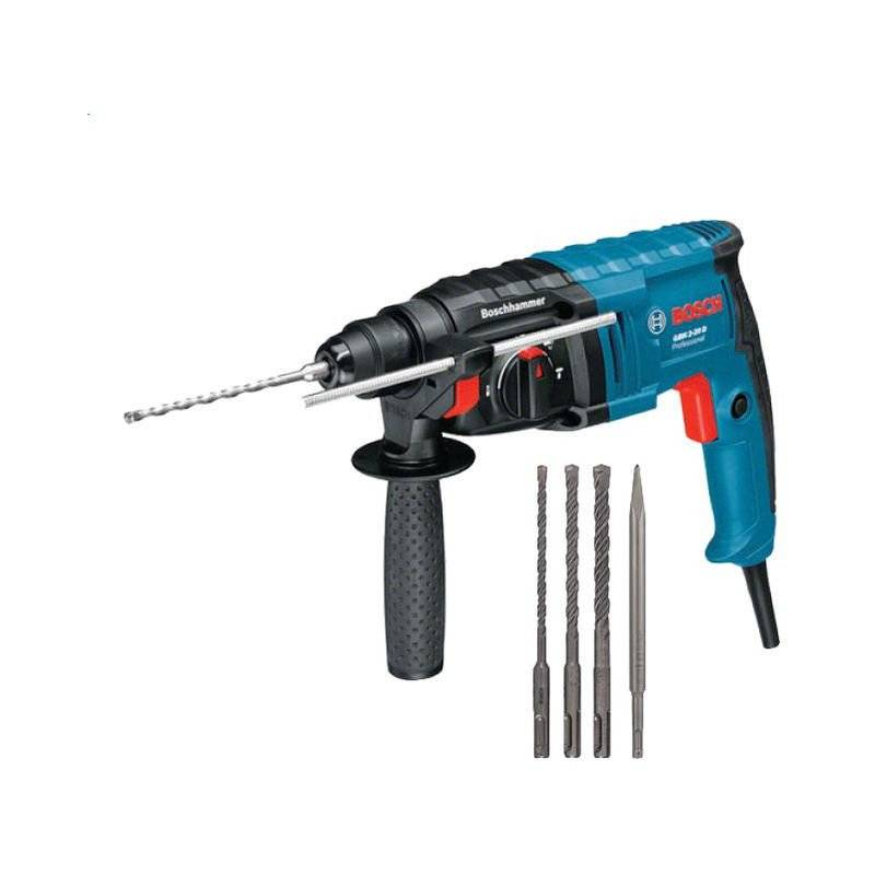 BOSCH Perforateur BOSCH GBH 2-20 D - 650W SDS-plus - 3 forets + burin + coffret
