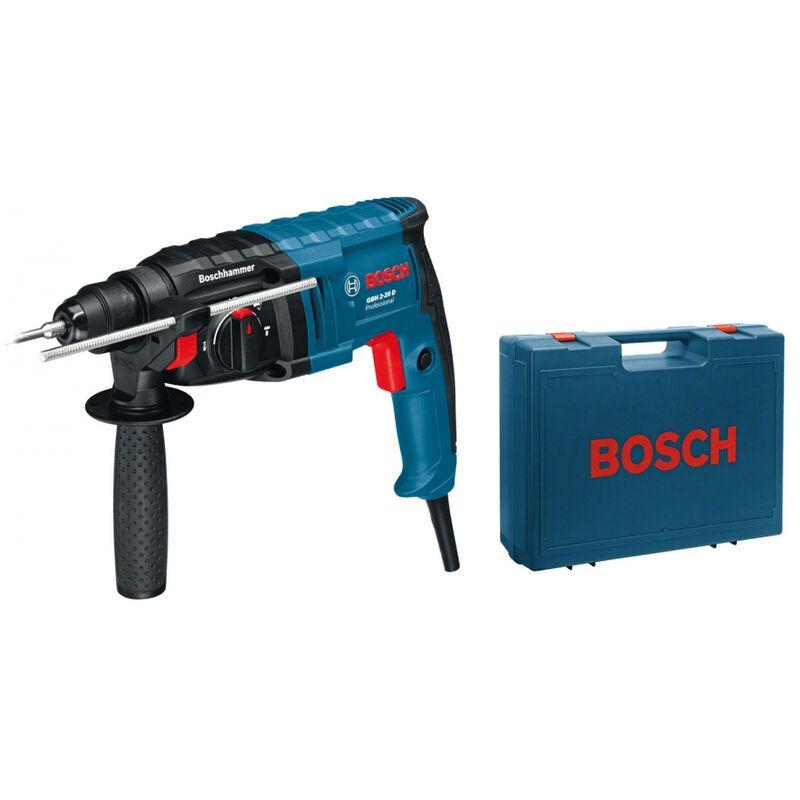 BOSCH Perforateur BOSCH GBH 2-20 D - 650W SDS-plus - 3 forets + burin + coffret
