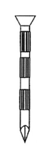 Alsafix - Pointe béton tête conique (TC) en vrac striée galvanisée 3,5 x 80 mm